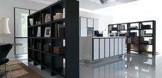 Divide your loft by using book shelves, pony walls, vertical garden walls and more to create separate areas for sleeping, entertainment and working. Sliding Glass Door, Sliding Doors, Tall Potted Plants, Floor To Ceiling Bookshelves, Pony Wall, Vertical Garden Wall, Half Walls, Loft Spaces, Home Projects