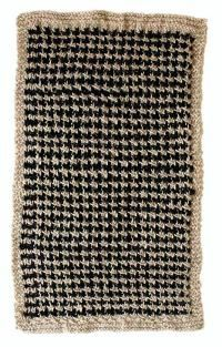 Free knitting pattern for block 8, featuring a fun two-color design knit with Kenzie by HiKoo!