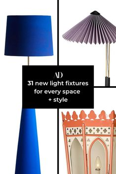 Light up your living room with the perfect stylish fixture. Whether you want something modern, colorful, bohemian, or minimalist, there's a floor lamp or table lamp for you on this list. #lighting #sconce #shade #lampshade #appliance #color #design #sofa #coffeetable #sideboard #den #familyroom #entertainment #mood