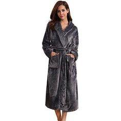 353a0be9cf0 Vetements peignoir robe de chambre Aibrou velours pour Femme en polaire  long