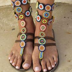 African handmade sandals