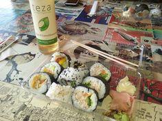 Sushi and organic tea