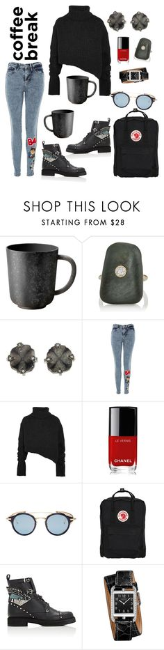 """Strong Black Coffee"" by mwaters4485 ❤ liked on Polyvore featuring L'Objet, CVC Stones, Cathy Waterman, Topshop, Ann Demeulemeester, Chanel, Thom Browne, Fjällräven, Fendi and Hermès"