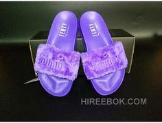 f899ff748919 PUMA BY RIHANNA LEADCAT FENTY FUR SLIDE Purple Discount
