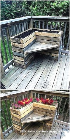 1 particular important thing with pallet furniture is that are going to want to finish it. As a very affordable choice, you can choose on pallet patio furniture. A tutorial regarding how you are able to make your pallet patio… Continue Reading → Wooden Pallet Projects, Wooden Pallet Furniture, Wooden Pallets, Outdoor Projects, Wooden Diy, Pallet Wood, Outdoor Decor, Pallet Porch, Furniture Ideas