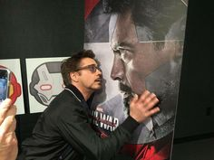 """Robert Downey Jr. at the Buzzfeed """"Captain America: Civil War"""" online Q&A, March 10, 2016."""