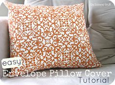 Easy Envelope Pillow Cover Tutorial | Six Sisters Stuff