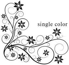 Floral Tattoo Designs | Vineyard Vinyl: corner floral swirls