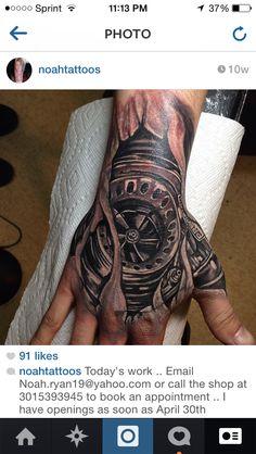 Turbo Tattoo Hand Black And Grey