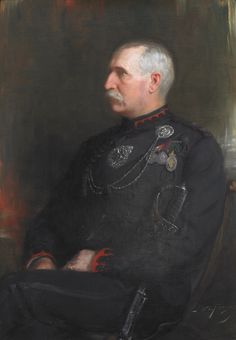 Lieutenant Colonel J.M. Delamere – Seventh Commanding Officer, 1897-1901. The original 43.5″ x 31″ oil on canvass painting by celebrated Can...