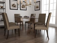 Our LEONARDO GLASS  DINING TABLE is a six seater glass dining table. Its tempered glass table top has neat edge polish. The four base glass panels are firmly fixed together with the help of Glass to Glass corner clamps. It makes this rectangle glass dining table study and well balanced. It will be a great embellishment for your living space.