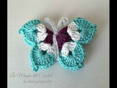 Uncommon Mariposas a Crochet Video… Crochet Simple, Love Crochet, Crochet Baby, Crochet Flower Tutorial, Crochet Flower Patterns, Crochet Crafts, Crochet Projects, Borboleta Crochet, Confection Au Crochet