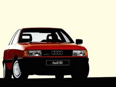 #Audi #80 #vintage #Audi80 #red #rossa #old cars #tradition
