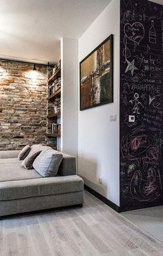 Mieszkanie z duszą, czyli beton na ścianie i cegły ze Stoczni Gdańskiej