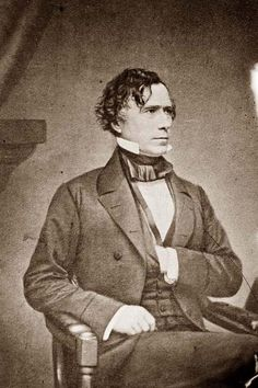 Franklin Pierce  14th President: 1853-1857 I wonder why his hand is in his jacket.