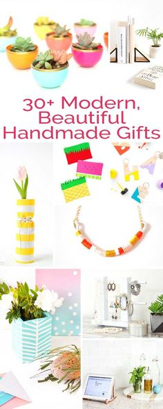 These aren't your grandma's homemade gifts, here are over 30 modern, beautiful handmade DIY gifts anyone on your list would love to receive! #gift #christmas #diy #homemadegift