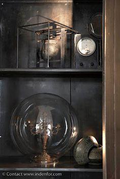 Candelabra under glass dome