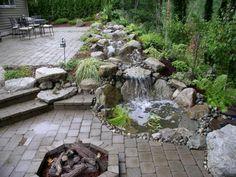 wasserfall im garten selber bauen und die harmonie der natur, Garten und Bauen