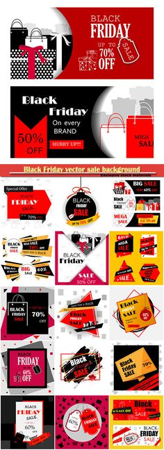 Download Black Friday vector sale background and promotion offer banner Free