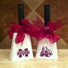 Mississippi State University cowbells I decorated for my daughter's grad party!