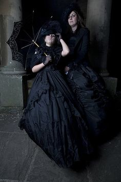 #Gothic Victorian mourning gowns goth_MG_3198.jpg, via Flickr.