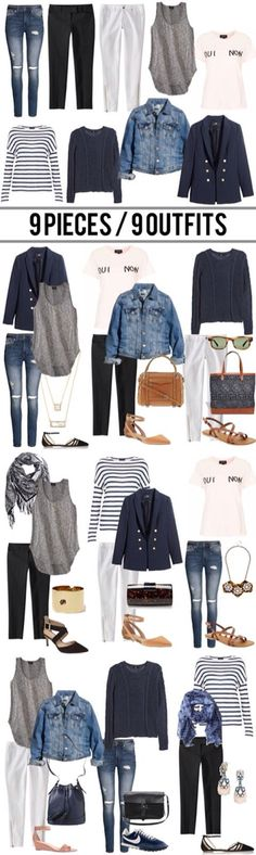 Really neat to see how only a couple of items can make so many #versatile outfits!