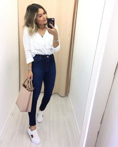 Casual Work Outfits, Basic Outfits, Mode Outfits, Simple Outfits, Classy Outfits, Business Casual Outfits, Fashion Outfits, Ladies Fashion, Fashion Tips