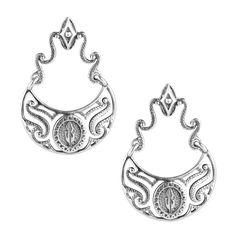 Carolyn Pollack Jewelry   Kenneth Johnson Sterling Silver Gorget Drop Earrings