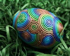 polymer clay decorated egg