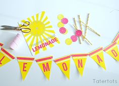 Summer Lemonade Stand Printables at Tatertots & Jello