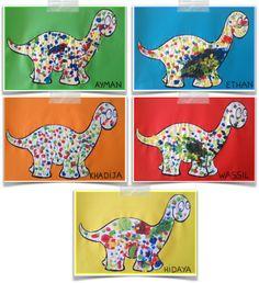 Pop                                                                                                                                                                                 Plus Dinosaur Activities, Dinosaur Crafts, Dinosaur Art, Kindergarten Themes, Preschool Themes, Preschool Activities, Crafts For Kids To Make, Art For Kids, Constellations