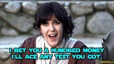 Sessa: she's gonna be a Jedi Knight, no matter how many money it takes.