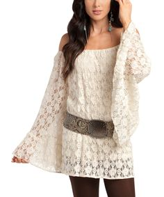 Another great find on #zulily! Rancho Estancia White Ophelia Tunic by Rancho Estancia #zulilyfinds