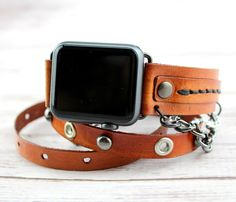 Women's Apple Watch Band Leather Apple от CuckooNestArtStudio