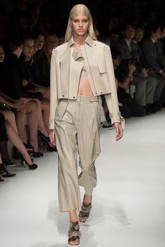 Look 4 Salvatore Ferragamo Spring 2014 #MFW #leather #Devon Windsor