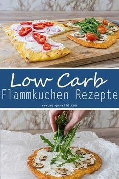 Low Carb Rezepte Flammkuchen Teig ohne Kohlenhydrate