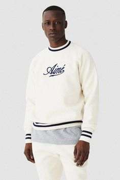 Created in Aimé Leon Dore is a fashion and lifestyle brand based out of New York City. Hollywood Glam Dress, Urban Outfits, Casual Outfits, Aime Leon Dore, Fashion Catalogue, Mens Sweatshirts, Streetwear Fashion, Sportswear, Tee Shirts