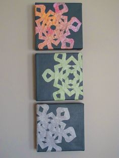 CS: Snowflake wall art, less than $10 to make!!