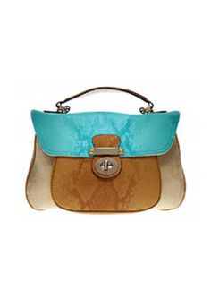 Izzy Handbags has some stand out purses like this one. I love the colors!
