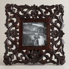 One of my favorite discoveries at WorldMarket.com: Espresso Millie Wood Frame