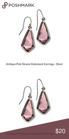 Luca and Danni Antique Silver Pink Earrings $20 NWOT.... comes with box. Luca and Danni Antique Pink Sloane Earrings ! retail $48 on here for $20! Bundle and save with other items in my closet!! Luca and Danni Jewelry Earrings