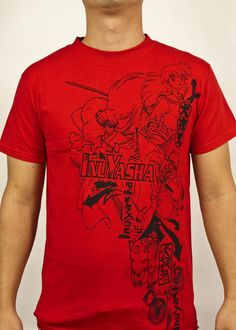 Official InuYasha Group Tee Red by Viz Media | eBay