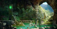 cave, Sutag Jaram on ArtStation at https://www.artstation.com/artwork/DldaE