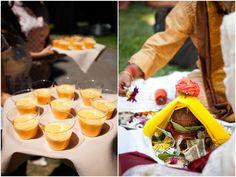 Mango lassi refreshments at end of Indian wedding baraat on  on IndianWeddingSite.com