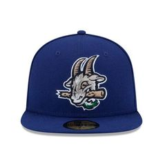 0cafe07c166 Hartford Yard Goats New Era On-Field Home Cap in Royal Blue Fitted Caps