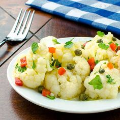 Marinated Cauliflower Salad with Capers