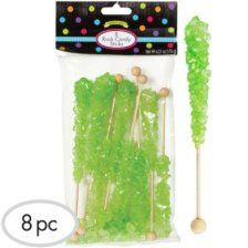 Shop Kiwi Green Rock Candy Sticks 8pc and more