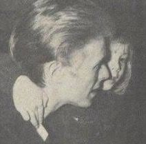 David Bowie with son Zowie in 1975 or 1976