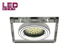 Oprawa sufitowa ozdobna MR16/GU10 srebrna szklana LED-hurt - hurtownia led, żarówki led, taśmy led i inne