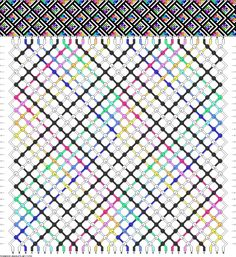 34 strings, 32 rows, 10 colors new Bff Bracelets, Diy Friendship Bracelets Patterns, Diy Bracelets Easy, Bracelet Knots, Tablet Weaving, Alpha Patterns, Macrame Patterns, Tear, Bracelet Tutorial